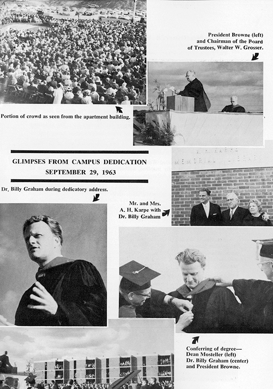 50-75 1963 Rev Billy Graham at Seminary Dedication September 29
