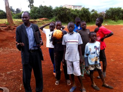 Pastor William and Soccer Team