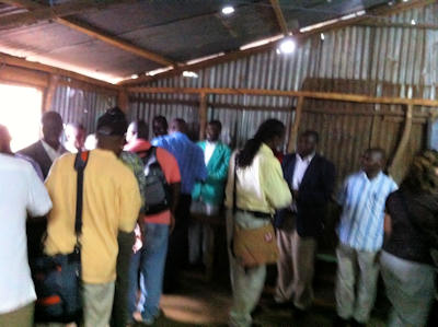 Greeting the Kibera Pastors